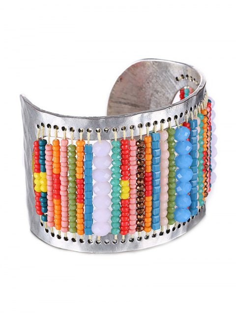 new Wide Bead Cuff Bracelet - COLORMIX  Mobile