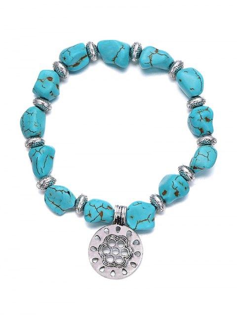 online Stylish Turquoise Elastic Bracelet -   Mobile