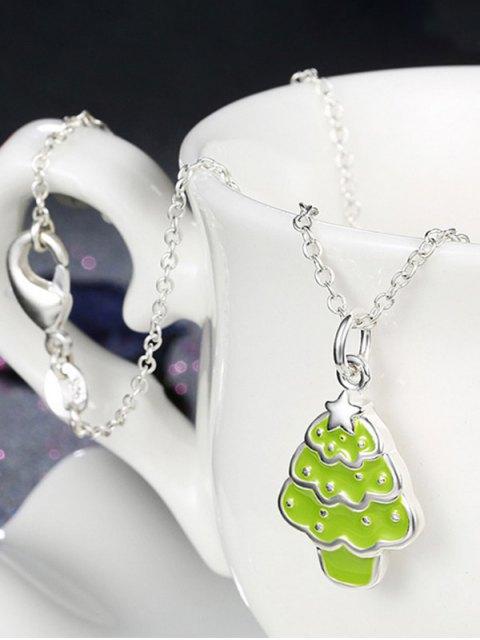 hot Polished Christmas Tree Jewelry Set -   Mobile