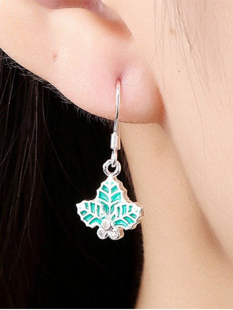 shop Christmas Leaf Enamel Jewelry Set -   Mobile
