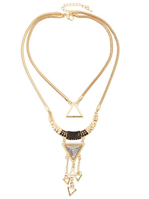 buy Hollow Triangle Pendant Necklace -   Mobile