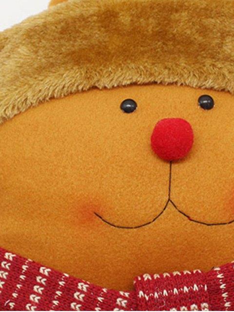 ladies Merry Christmas Deer Star Pillow - YELLOW  Mobile
