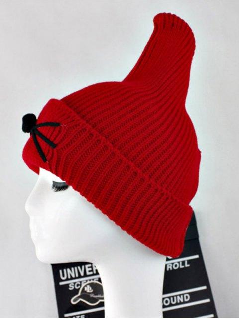 online Warm Cat Beard Shark Fin Shape Knit Hat - RED  Mobile