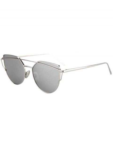 latest Metal Bar Silver Frame Sunglasses - SILVER  Mobile
