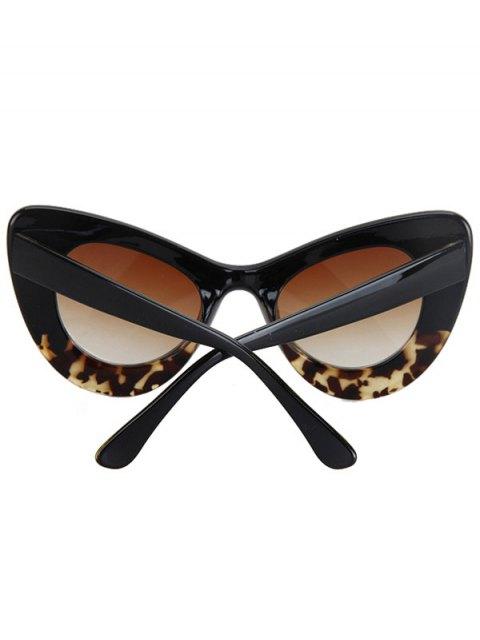 new Black Match Leopard Butterfly Shape Sunglasses - BLACK  Mobile
