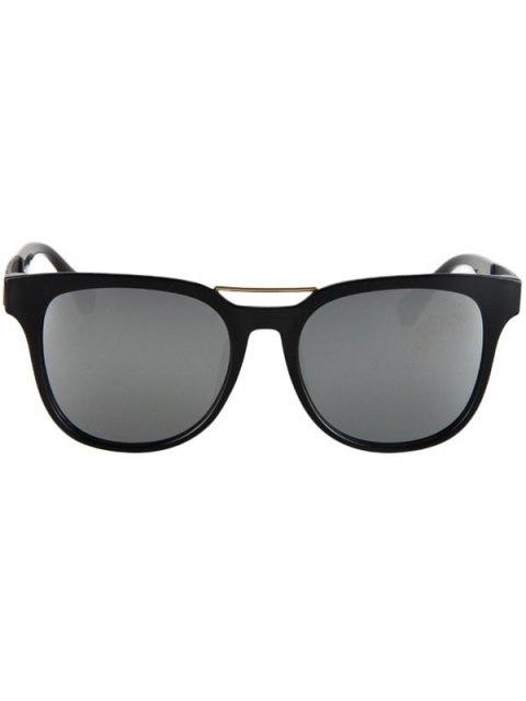 women Flower Shape Bulge Black Frame Sunglasses - SILVER  Mobile
