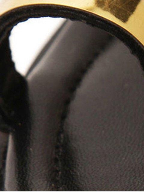 hot Toe Ring Platform Wedge Heel Slippers - GOLDEN 37 Mobile
