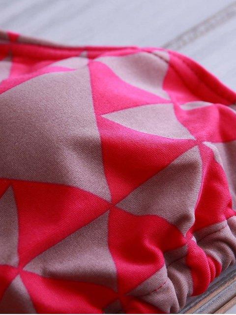 new Tie-Up Print Bikini Set - ROSE M Mobile