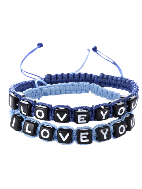 buy Letters I Love You Bracelets - SAPPHIRE BLUE  Mobile