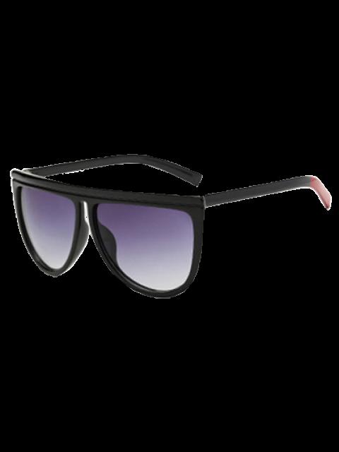 new Color Block Leg Oversized Sunglasses - BLACK  Mobile
