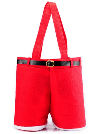 Christmas Santa Pants Red Wine Bag - RED  Mobile