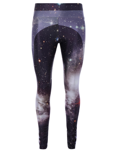 3D Starry Sky Print Elastic Gym Leggings