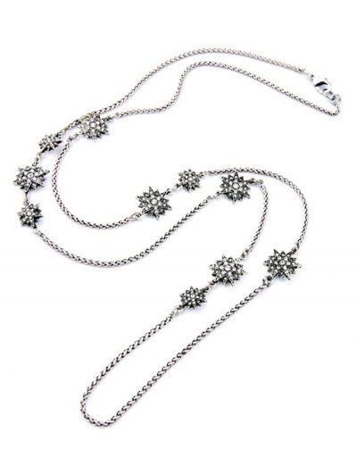 Alloy Star Necklace - SILVER  Mobile
