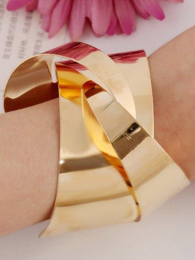 Mirror Side Twisted Cuff Bracelet - GOLDEN  Mobile