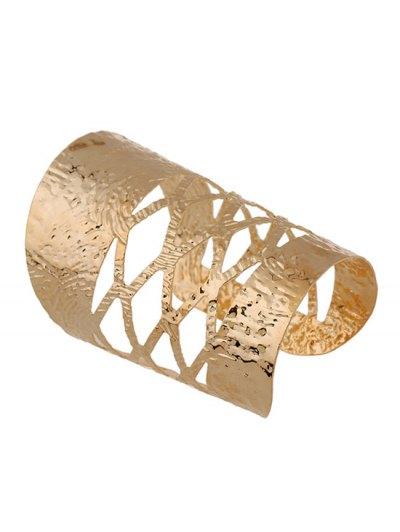 Chunky Matte Cuff Bracelet - GOLDEN  Mobile