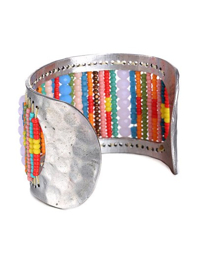 Wide Bead Cuff Bracelet - COLORMIX  Mobile