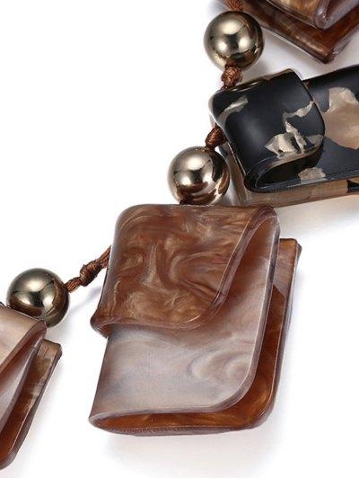 Geometric Acrylic Necklace - COFFEE  Mobile
