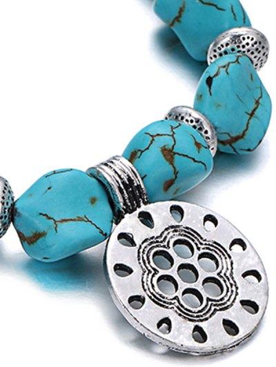 Stylish Turquoise Elastic Bracelet - TURQUOISE  Mobile