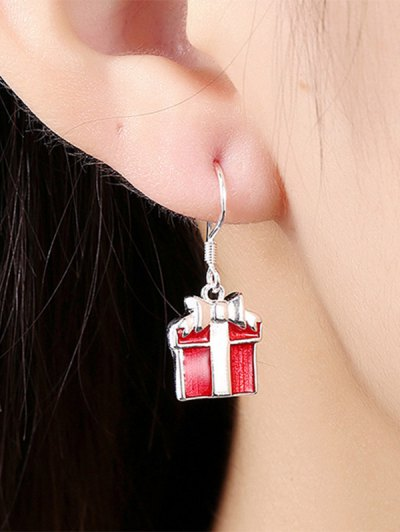 Enamel Christmas Gift Jewelry Set - RED  Mobile