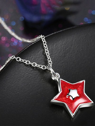 Polished Christmas Star Jewelry Set - RED  Mobile