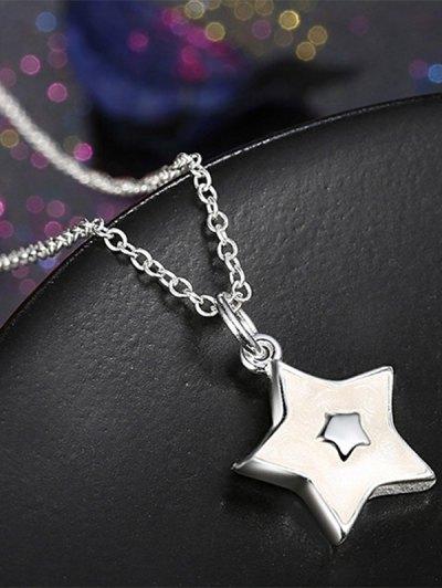 Polished Christmas Star Jewelry Set - WHITE  Mobile