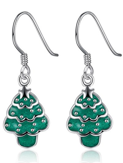 Polished Christmas Tree Jewelry Set - GREEN  Mobile