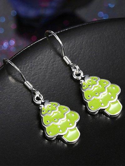 Polished Christmas Tree Jewelry Set - NEON GREEN  Mobile