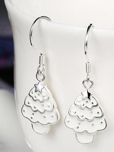 Polished Christmas Tree Jewelry Set - WHITE  Mobile