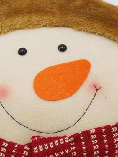 Merry Christmas Party Decoration Snowman Star Pillow - WHITE  Mobile
