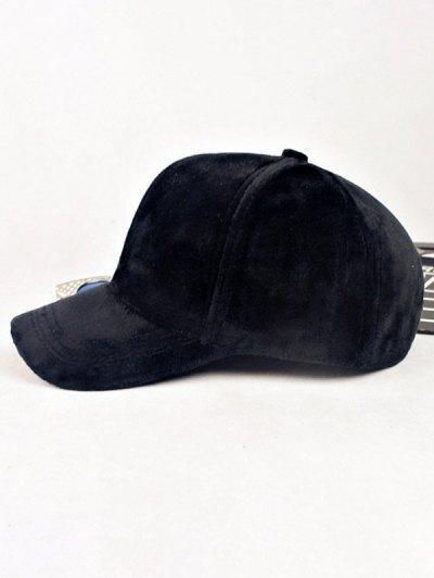 Lovers Adjustable Velvet Baseball Hat - BLACK  Mobile