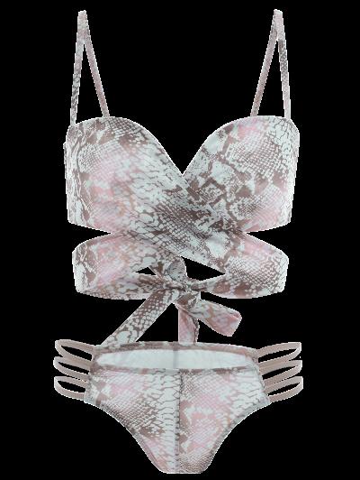 Python Print Wrap Bikini - MULTICOLOR XL Mobile