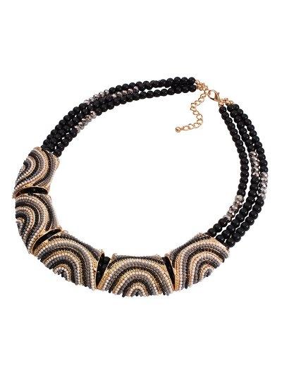 Stylish Bohemia Resin Bead Necklace - BLACK  Mobile