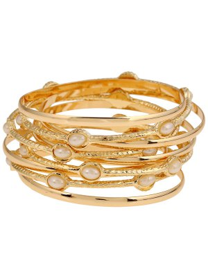 Multi-Layered Alloy Bracelet - Golden