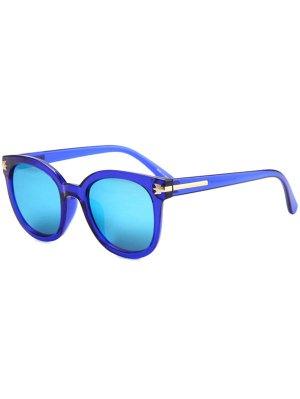 Incrustación Metálica Gafas De Sol Transparentes - Azul