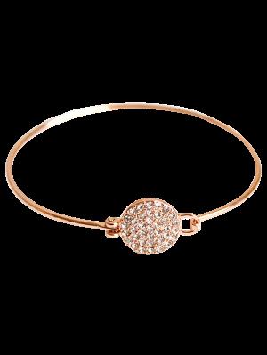 Bracelet en alliage avec une rondeur décorée des strass