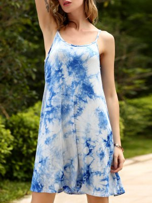 Tie-Dyed Flippy Cami Dress - Blue