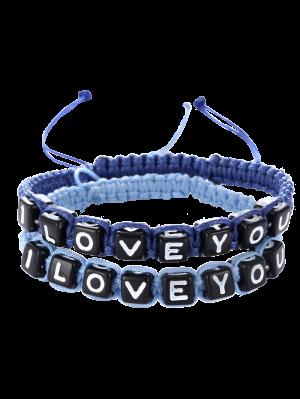 Cartas Te Amo Las Pulseras - Zafiro Azul