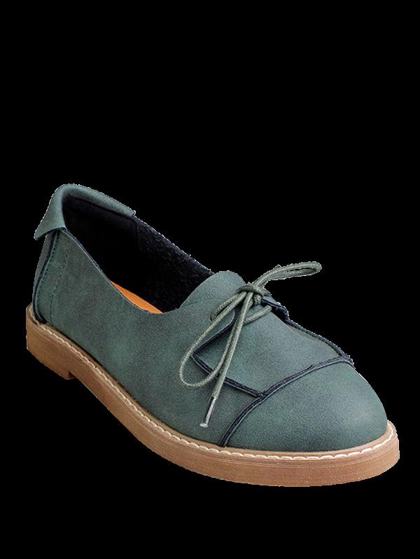 Preppy Lace-Up Flat Shoes