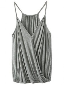 Crossover Draped Cami Tank Top