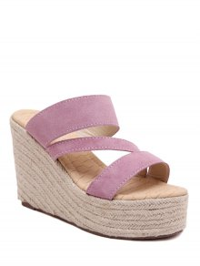 Weaving Platform Wedge Heel Slippers