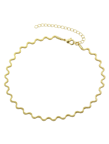 Alloy Wavy Choker Necklace