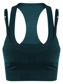 Double Layer Sport Bra - Blackish Green