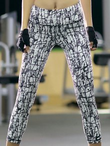 Printed Slim Fit Cropped Pants