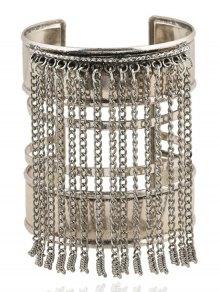 Link Chain Tassel Chunky Cuff Bracelet