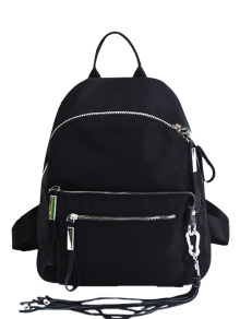 Splicing Tassels Zippers Backpack
