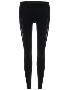 legging en filet semi transparent noir bas de sport l zaful. Black Bedroom Furniture Sets. Home Design Ideas