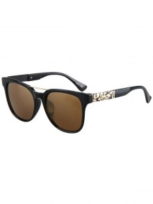 Flower Shape Bulge Black Frame Sunglasses