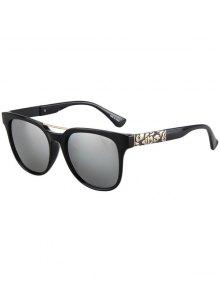 Flower Shape Bulge Black Frame Sunglasses
