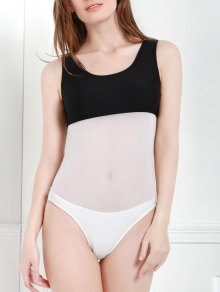 Color Block Hollow One-Piece Swimwear