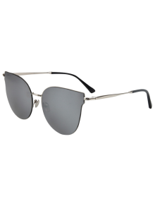 Street Fashion Silver-Rim Cat Eye Sunglasses